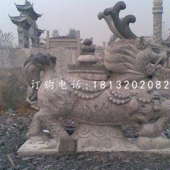 青石麒麟雕塑寺廟神獸石雕