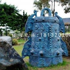 青銅鼎雕塑公園銅雕鼎