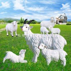 公园山羊雕塑玻璃钢仿真动物