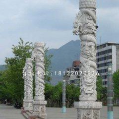 广场石雕柱子,盘龙柱石雕