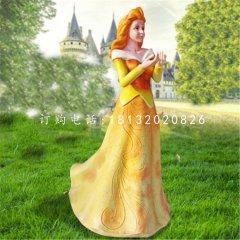 玻璃鋼公主雕塑玻璃鋼卡通人物