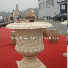 砂岩花盆,欧式花盆雕塑