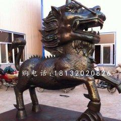 古代神獸銅雕,麒麟銅雕