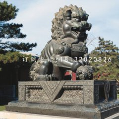 獅子戲球銅雕,北京獅銅雕