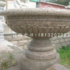 花岗岩花盆雕塑,石雕花钵