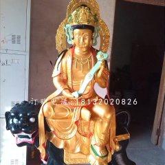文殊菩薩雕塑,玻璃鋼佛像
