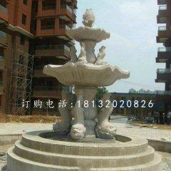 鱼造型喷泉,小区石喷泉