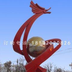 不锈钢龙腾雕塑,广场抽象龙雕塑