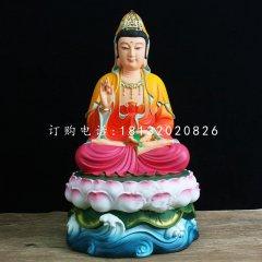 玻璃钢彩绘观音菩萨,寺庙佛像雕塑