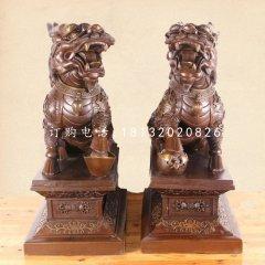 踩球麒麟銅雕,古代神獸銅雕
