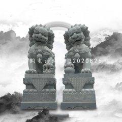 大理石踩球北京狮,看门狮子雕塑