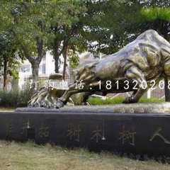開荒牛銅雕,校園銅牛雕塑