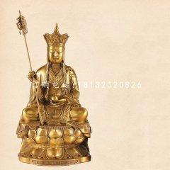 坐式地藏菩薩銅雕,寺廟佛像銅雕