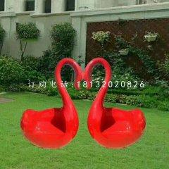 玻璃鋼抽象天鵝座椅公園座椅雕塑