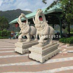花崗巖大象石雕門口大象雕塑