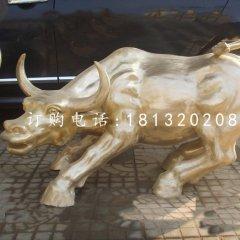華爾街牛銅雕公園動物銅雕