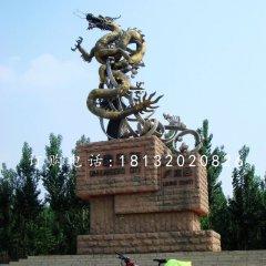 不锈钢蛟龙出海,城市景观雕塑