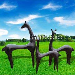 玻璃钢抽象小鹿公园动物雕塑