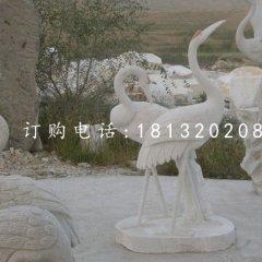 石雕仙鹤 汉白玉动物石雕