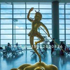 玻璃鋼仿銅卡通孫悟空 商場景觀雕塑