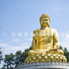 銅雕大型坐式如來佛 佛像銅雕
