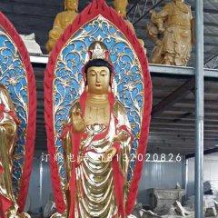 玻璃钢观音雕塑 寺庙立式佛像雕塑