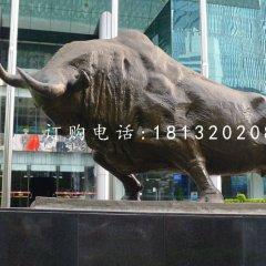 銅雕開荒牛 企業門口銅雕