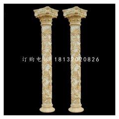 罗马柱石雕 砂岩柱子