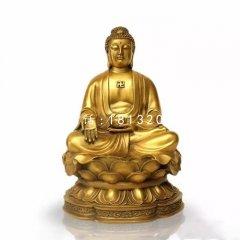 釋迦牟尼佛銅雕 坐式銅佛像