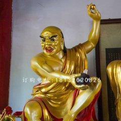 降龍羅漢銅雕 十八羅漢雕塑