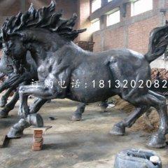 駿馬銅雕 公園動物銅雕