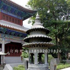 圓形香爐銅雕 寺廟三足銅香爐