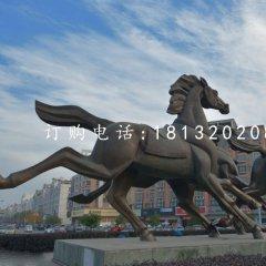 不锈钢奔马雕塑 广场动物雕塑
