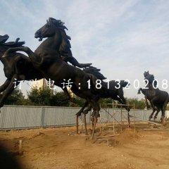 八马铜雕 奔腾的马铜雕