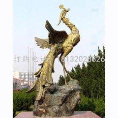 凤凰铜雕 公园凤鸣朝阳铜雕