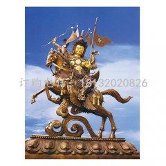 格薩爾王銅雕 古代神話人物銅雕