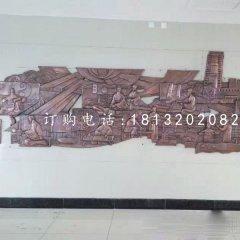古代醫學家銅浮雕 鍛銅浮雕