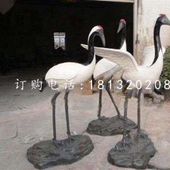 仿真丹顶鹤雕塑 玻璃钢仿真动物雕塑