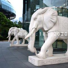 石雕如意大象 漢白玉門口大象雕塑
