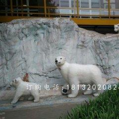 玻璃鋼北極熊,商場動物雕塑