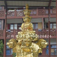 四面文殊菩薩銅雕 大型銅佛像