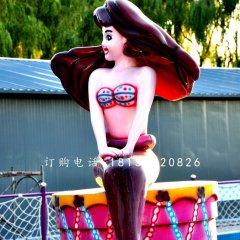 卡通美人魚雕塑 玻璃鋼彩繪雕塑