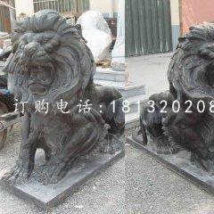 西洋吼狮铜雕 欧式铜狮子