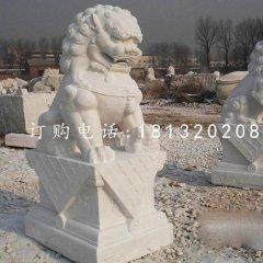 汉白玉狮子雕塑 北京狮石雕
