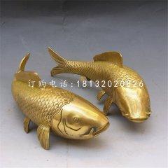 鲤鱼铜雕,铜雕动物