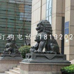 北京狮铜雕 银行门口狮子铜雕
