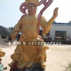 玻璃鋼仿銅四大天王寺廟神像雕塑
