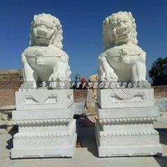 汉白玉北京狮石雕看门狮子