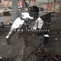 抽象小馬雕塑不銹鋼動物雕塑