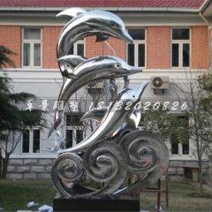 海豚跳躍雕塑不銹鋼海豚雕塑